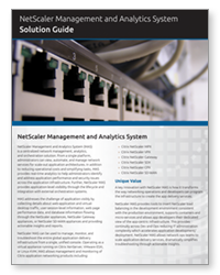 PDF – NetScaler Management and Analytics System Solution Guide