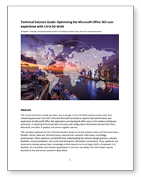 PDF – Technical Solution Guide: Optimizing the Microsoft Office 365 user experience with Citrix SD-WAN