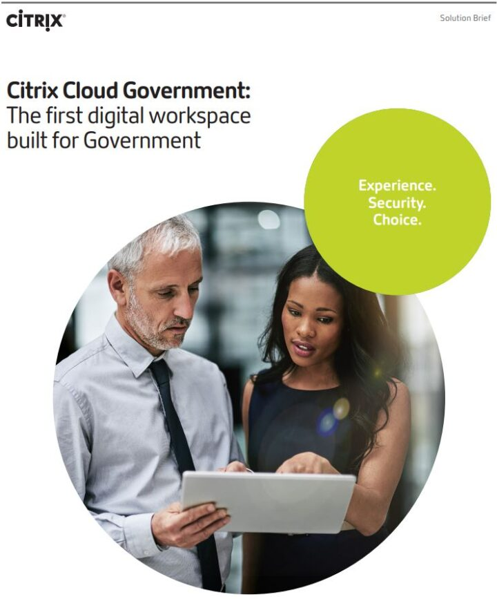 PDF -Citrix Cloud Government: The first digital workspace built for Government